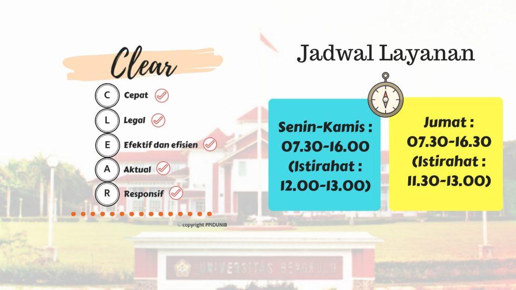 Clear jadwal